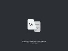 Wikipedia Android Icon Material Rework by Fritz Franke