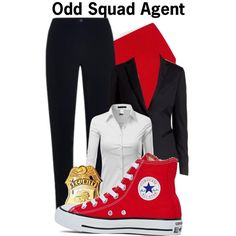 Odd Squad by sallyrose2 on Polyvore featuring Doublju, Ted Baker, MaxMara, Converse, Forzieri and pbs