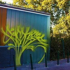 this tag by Sponer (@__demondayz__) is blending in with the trees . #sponer #handstyle #graffiti //follow @handstyler on Instagram