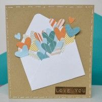 We R Memory Keepers Envelope Punch Board & Card-well how cute is this? Use the envelope maker to decorate a card!
