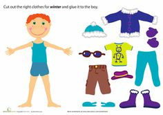 Preschool Paper Dolls Weather & Seasons Worksheets: Winter Paper Doll Boy Worksheet Source by LightTablePlay themed Seasons Worksheets, Weather Worksheets, Preschool Themes, Preschool Worksheets, Preschool Readiness, Coloring Worksheets, Music Worksheets, Free Worksheets, Preschool Science