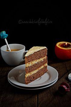 Milk Chocolate Cake with Orange Cream Cheese Buttercream Cream Cheese Buttercream, Cookie Pie, Cake Cookies, Cupcakes, Dessert Recipes, Desserts, Macaroons, Chocolate Cake, Tiramisu