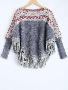 Fluffy Batwing Sweater