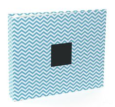 Teal Chevron 12X12 D-Ring Patterned Album by American Crafts - Two Peas in a Bucket