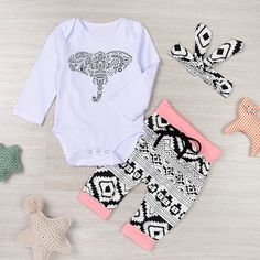 Palarn Newborn Toddler Outfits Clothes, Baby Boys Girls Elephant Romper Pants Set on Amazing Baby Photo 6272 Elephant Baby Clothes, Baby Girl Elephant, Elephant Pants, Baby Girl Newborn, Tribal Elephant, Elephant Pattern, White Elephant, Baby & Toddler Clothing, Toddler Outfits