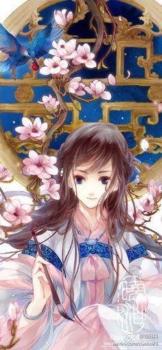 梦里的江湖,百花齐放,人来人往,繁华似锦 #anime