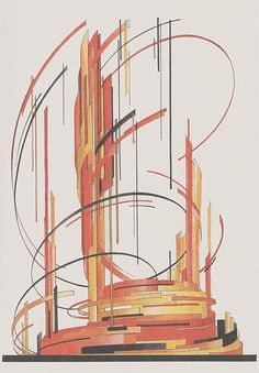 Iakov Chernikhov, Composition 161 via The speculative constructivism of Iakov. Chernikhov's early architectural experiments, Constructivism Architecture, Russian Constructivism, Architecture Collage, Architecture Drawings, Bauhaus Style, Design Art, Graphic Art, Abstract Art, Layout