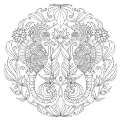 Mermaid Siren Fantasy Myth Mythical Mystical Legend Coloring pages ...