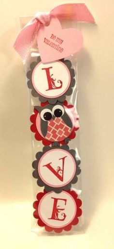 LOVE Valentine OWL Mint Patty Gift or party favor with other letters. Maybe use last name or initials of bride and groom for a wedding favor with a heart or wedding rings instead of an owl.