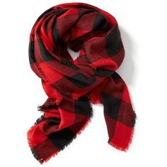 Old Navy Oversized Flannel Scarf ($23) ❤ liked on Polyvore featuring accessories, scarves, red, plaid scarves, oversized scarves, tartan plaid shawl, tartan shawl and red plaid scarves