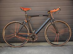 "atelieronest: ""Avenue Madison singlespeed transformation by Atelier Onest, Bucharest, RO Brooks B17 saddle, bullhorn, Tektro 4.1 brake levers, Brooks leather bar tape, Michelin Dynamic Classic..."