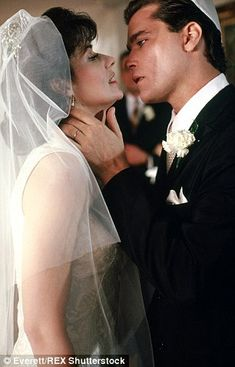 """Karen and Henry Hill (Lorraine Bracco and Ray Liotta in """"Goodfellas""""). Mafia Wives, Mob Wives, Martin Scorsese, Goodfellas Movie, Ray Liotta Goodfellas, Goodfellas Quotes, Lorraine Bracco, A Bronx Tale, Gangster Movies"""