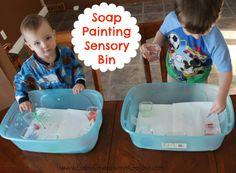 Soap Painting Sensory Bin for Kids