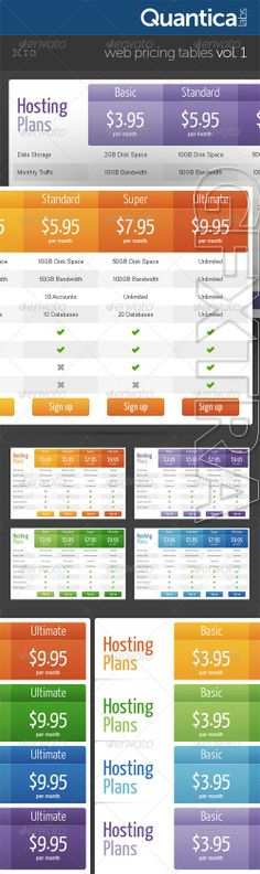 Pricing table full UI\/UE design - web、software Pinterest - price chart template