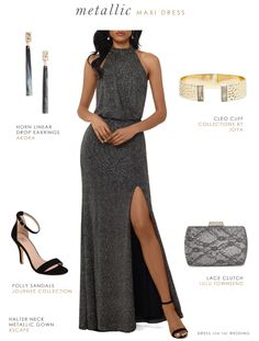 Black tie optional outfit for a fall or winter wedding guest – Winter Outfits BLOĞ Henna Designs, Winter Wedding Guests, Fall Wedding, Miami Wedding, October Wedding, Dream Wedding, Black Tie Optional Wedding, Silver Evening Gowns, Party Dresses