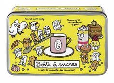 Boîte à Sucre (jaune) - Derrière la Porte - DLP - Accessoire cuisine et rangement/Boite à café, thé et cacao - espritlogis-fr