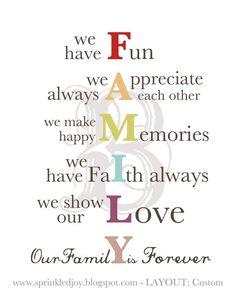 family acronym classroom - Google Search