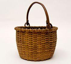 "Miniature 6"" Taconic Swing-Handled Basket    Circa 1850-1880"