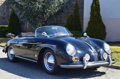 1956 Porsche 356A Speedster . It is equipped with a 4 Speed Manual transmission. The vehicle is Black with a Tan interior. It is offered As-Is, not covered by a warranty. - 1956 Porsche 356 A-1600 Speedster # 82169 COA from Porsche dated 8-15-91 Date of Manufacturer April 1956 Engine Number 61284 Currently P *704316* Engine Type 616-1 Current 616-39 Transmission Number 8756 Exterior color code Red. Price: $189,500