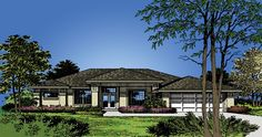 Prairie House Plan with 1869 Square Feet and 3 Bedrooms from Dream Home Source   House Plan Code DHSW18369