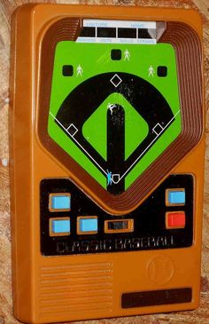 Still have this from grade school. It's in my desk at the office! Mattel Electronics Baseball