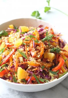 Asian Citrus Cabbage Slaw recipe by seasonwithspice #Salad #Citrus #Cabbage #Asian #Healthy