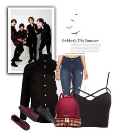 """""""5sos"""" by blunted-diva on Polyvore featuring River Island, Charlotte Russe, Michael Kors, Converse and Underground"""