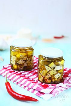 Hot Pickled Feta Cheese