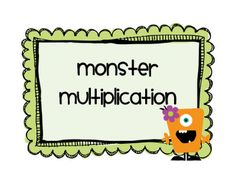 multiplication problems - cute monster graphics!