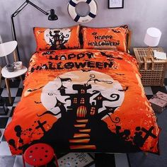 Nightmare before christmas bedding set kids queen king twin happy halloween orrage castle comforter duvet quilt cover Cheap Bedding Sets, Cheap Bed Sheets, King Bedding Sets, Luxury Bedding Sets, Comforter Sets, Soft Duvet Covers, Duvet Cover Sets, Cover Pillow, Quilt Cover