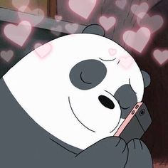 Trendy Ideas For Memes Heart Bear We Bare Bears Wallpapers, Panda Wallpapers, Cute Wallpapers, Cartoon Cartoon, Bear Wallpaper, Cartoon Wallpaper, Bear Meme, Cute Love Memes, We Bear