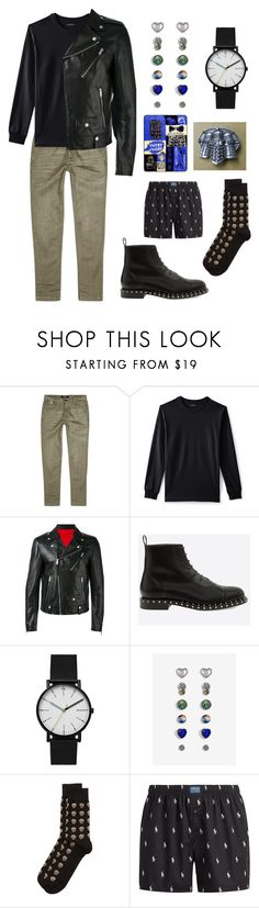 """""""Exterminate"""" by slowsilence20 ❤ liked on Polyvore featuring Replay, Lands' End, Alexander McQueen, Skagen, Polo Ralph Lauren, men's fashion and menswear"""