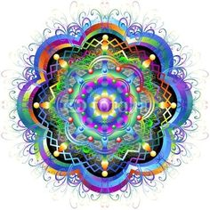 Mandala Rainbow Flower-Vector © bluedarkat