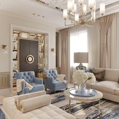 The Newly Leaked Secrets to Stylish Apartment for Young Woman Discovered - homemisuwur Classic Living Room, Elegant Living Room, Elegant Home Decor, Formal Living Rooms, Luxury Living Rooms, Home Living Room, Interior Design Living Room, Living Room Designs, Living Room Decor