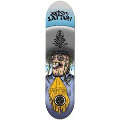 """Toy Machine Johnny Layton Amigos P2 8.25"""" Pro Deck"""