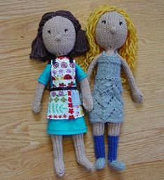 I would love to crank out a bunch of these. some great clothes...  Free Knitted Doll Pattern – One Crafty Place