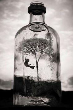 Dark art: Life in a Bottle