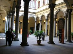 Palazzo Strozzi in Florence Italy.  The first place in Florence we visited.  They had ballet dancers practicing in the courtyard.  The music and the dancing was amazing. Want to go back to Florence so bad.