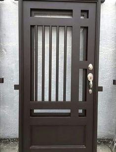 Steel Gate Design, Front Gate Design, Door Gate Design, Main Door Design, Steel Doors And Windows, Iron Front Door, Wrought Iron Doors, Metal Doors, Metal Gates