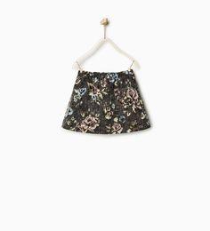 フラワー柄ジャガードスカート-今週の新商品-ガール (4 - 14歳)-キッズ | ZARA 日本
