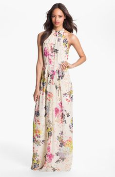 Romantic, flower-showered maxi. It's spring!
