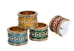 Imperial Napkin Ring Holders, SET of 4, Assorted