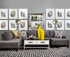 Really like that I can stretch out and so can the hubs.... Vapor Sectional - 3 Piece from Z Gallerie