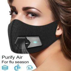 Fresh Air Supply Smart Electric Mask Air Purifying Mask Anti Pollution Mask for Exhaust Gas, Pollen Allergy, Running, Cycling and Outdoor Activities - Products Lists of Tools and Hardware Fans Sport, Parts Of The Nose, Allergy Mask, Flu Mask, Purifying Mask, Face Design, Air Pollution, Mouth Mask, Air Filter