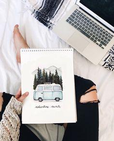 33 New ideas art journal inspiration diy doodles Doodle Drawings, Doodle Art, Drawing Sketches, Drawing Ideas, Drawing Art, Bus Drawing, Small Drawings, Kunstjournal Inspiration, Bullet Journal Inspiration
