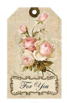 Shabby chic crafts ideas decoupage 27 Ideas for 2019 Images Vintage, Vintage Tags, Vintage Labels, Vintage Roses, Vintage Paper, Vintage Postcards, Printable Vintage, Vintage Floral, Paper Art