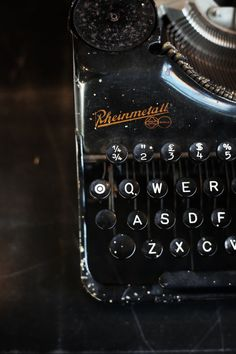 typewriter http://hemingsways.tumblr.com/