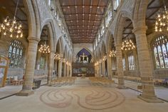Here is a photograph from the nave inside Wakefield cathedral. Located in Wakefield, Yorkshire, England, UK. Cathedral Architecture, Beautiful Architecture, Art And Architecture, Ripon Cathedral, Cathedral Church, Yorkshire England, West Yorkshire, England Uk, Wakefield Cathedral