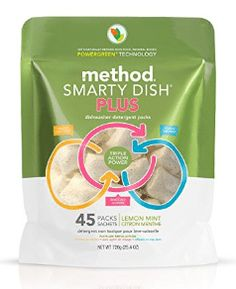Method Smarty Dish Plus Detergent Tabs, Fragrance Free, 45 Tabs/Pack, 6 Pk/Carton Dishwasher Tabs, Dishwasher Detergent, Dish Detergent, Dishwashing Gloves, Dishwashing Liquid, Organic Acid, Cleaning Chemicals, Action, The Help