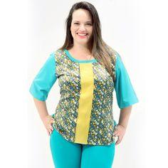 Túnica Estampada Mix Blusa Plus Size com as costas e mangasem crepe haya liso com a frente em cetim estampado floral com recorte #tunicaplussize #plussize #modaplussize #modaplussizebrasil #mulherplussize #mulheresplussize #tamanhogrande #vickttoriavick #modaplussizebr #plussizebrasil #plussizefashion #modagg #moda #fashion #feitonobrasil #plussizes #plussizebr #gordinhasdobrasil #modafemininaplussize #somosplussize #lojaplussize #lojafeminina #mulheresreais